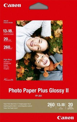 Canon PP201 Plus Glossy II Pack de 20 feuilles de papier photo ultra brillant 260g 13 x 18cm