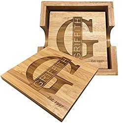 Wooden Personalized Coasters G