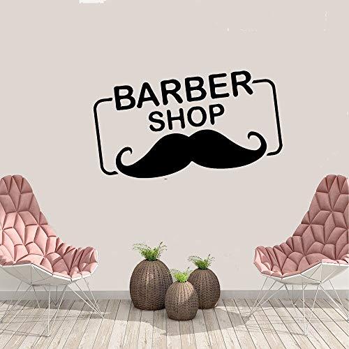yaonuli Barber Shop Logo Vinyl muurtattoos Home Interior Design Bart Friseursalon muursticker