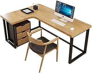 ZHANGNUO Bureau D'ordinateur d'angle de Bureau à Domicile, Bureau en Forme de L en Bois Massif, Table de Jeu pour Ordinate...