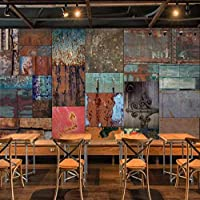 写真の壁紙3D立体空間カスタム大規模な壁紙の壁紙 鉄板リビングルーム現代リビングルームのテレビの背景寝室家の装飾壁画 -140X100cm(55 * 39インチ)