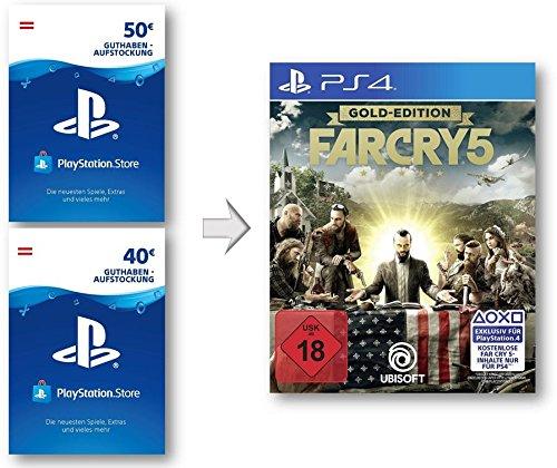 PSN Guthaben Aufstockung für Far Cry 5 Gold - PSN Guthaben Far Cry 5 Gold Edition | PS4 Download Code - österreichisches Konto