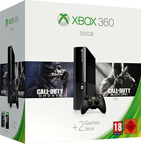 Microsoft Xbox 360 + 500 GB + Call of Duty Ghosts + Call of Duty Black Ops 2 - videoconsolas (Xbox 360, Unidad de disco duro, Negro, 802.11b, 802.11g, 802.11n, DDR3, IBM PowerPC)