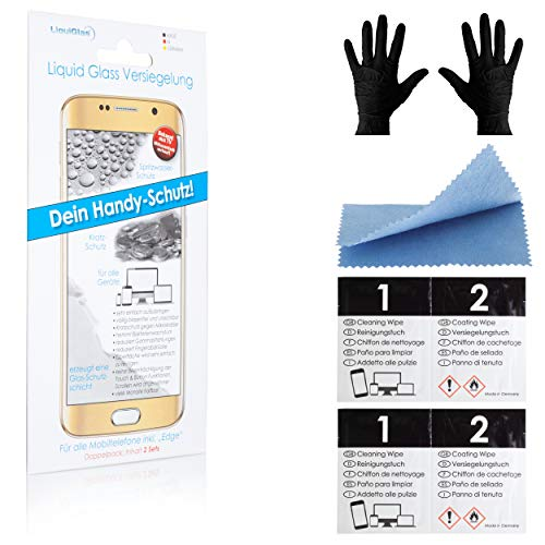CCM Liquid Glass Flüssigglas Schutz für das Smartphone und Displays [2er Set] – Preisgekrönt – Displayschutz für alle Smartphones Apple, Samsung & Edge, Google - Nano Versiegelung, 9H+