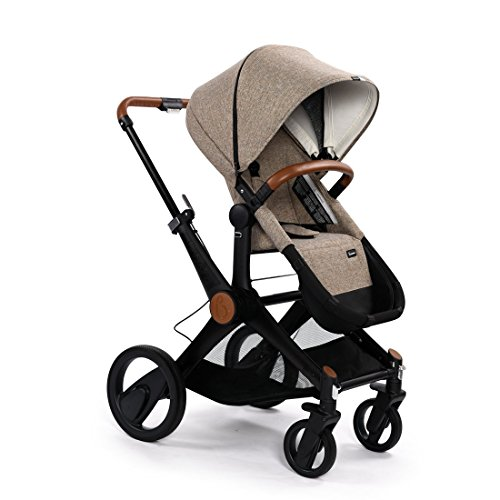 Babysing X-GO Reversible Dragging Luxury High-View Infant Stroller with Bassinet,Travel System,14.5KG (Khaki)