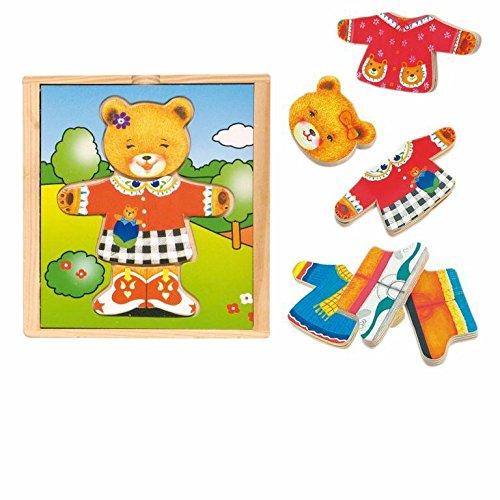 Hape International Woody_ Puzzle hölzernes Ankleide Spielzeug Bärin