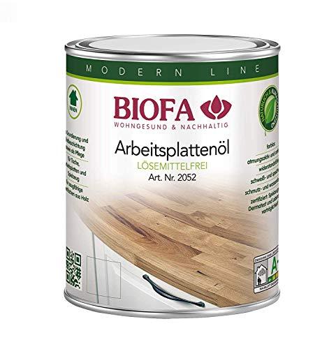 Biofa Arbeitsplattenöl 2052 | 1 Liter | Set mit 2 Ölsaugtüchern | NEU