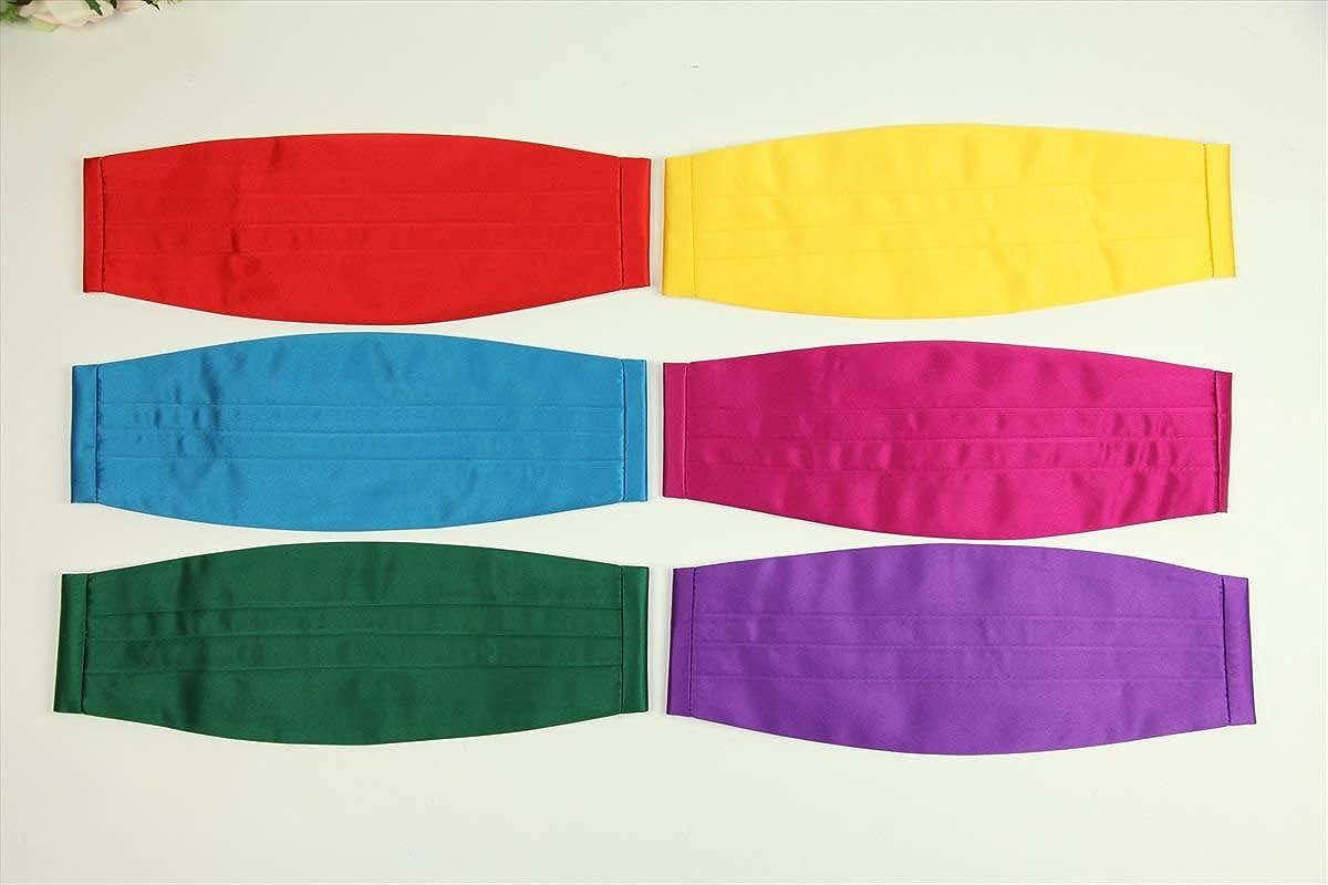 Wonder Stage Men's Adjustable Satin Cummerbund 6 Colors Available