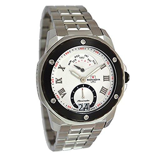 Reloj Nivada Moonmaster para Hombres, pulsera de Acero Inoxidable