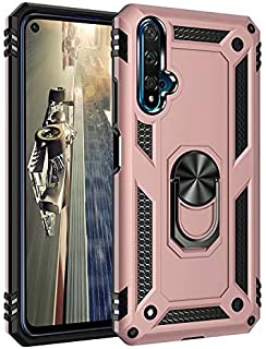 Soosos Case for Huawei Honor Play 4T Case Hybrid Heavy Duty Military Grade Built-in Metal Rotating Ring Kickstand Cell pho...
