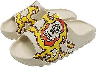 Thick-Soled Graffiti Slippers - Unisex Slide Sandal Summer Slippers, Pillow Slide Sandals Cartoon Slippers