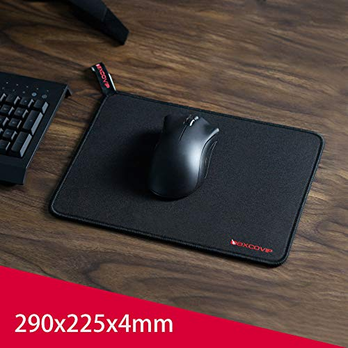 EXCO S-EXCOMousepad Negro (290 × 225 × 4 MM) - Superficie Lisa Alfombrilla de ratón Antideslizante
