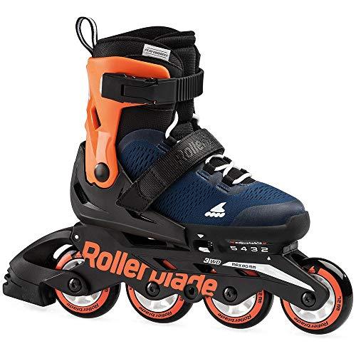 Rollerblade - Pattini in microfibra blu, per ragazzi e ragazze, unisex, Midnight Blue/Warm Orange, 36,5 - 40,5