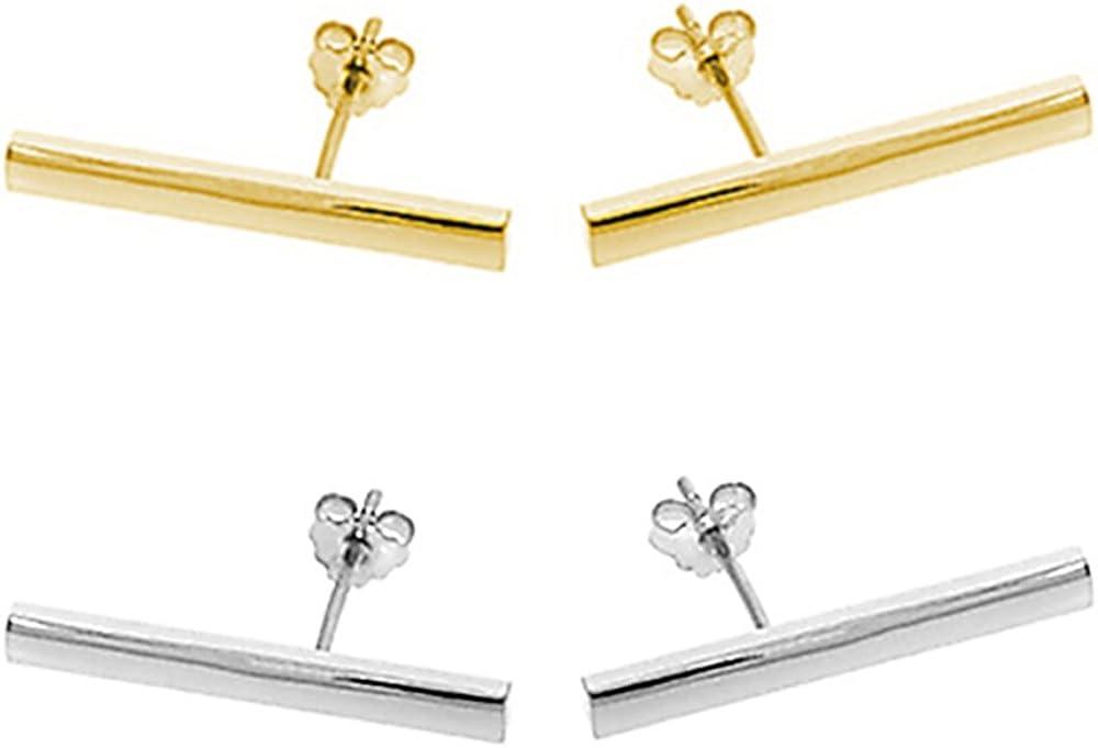 Sacramento Mall Minimalist 925 Sterling Silver Outstanding Stud Earrings Modern Design Bar