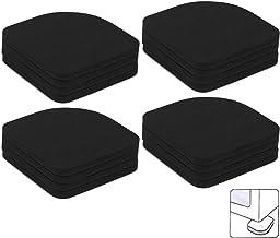 Amaoma Antivibracion lavadora Almohadillas Antivibraciones Colchonetas Antideslizantes Silencioso Pies Almohadillas de Goma Universal para lavadora nevera Home Appliance 16 Piezas Negro