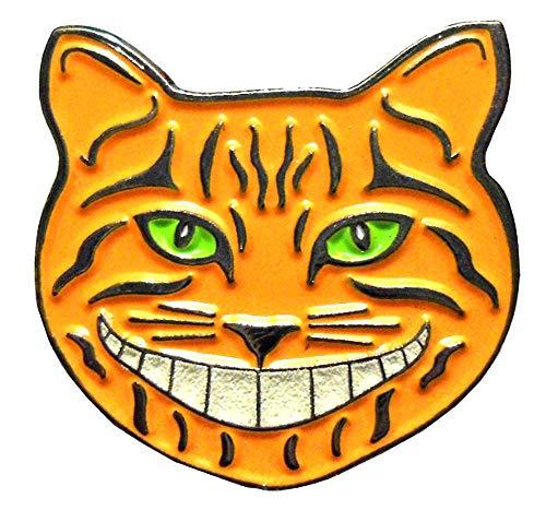 Mainly Metal  Pin esmaltado con diseño de gato de Cheshire (25 mm) Alicia en el país de las maravillas