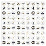 SOIMISS Eid Mubarak Aufkleber Muslimischen Ramadan Party Aufkleber Selbst Klebe Umschlag Abdichtung Aufkleber Islamischen Muslim Dekoration für Candy Cookie Ramadan Party Liefert 90Pcs