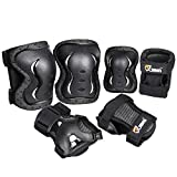 JBM Knee Pad Protective Gear Set Kids & Adults Cycling Roller Skating Knee Elbow Wrist Protective...