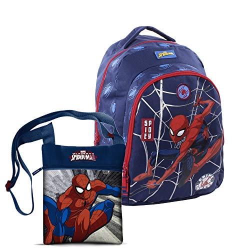 Spiderman Zaino Scuola Elementare 44 x 20 x 32 cm + Tracollina Compresa nell' Offerta
