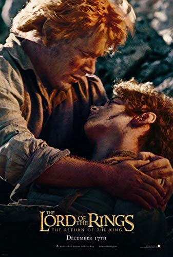 LORD OF THE RINGS RETURN OF THE KING MOVIE POSTER 2 Sided ORIGINAL SAM & FRODO 27x40