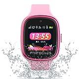 PTHTECHUS 4G Smartwatch Phone per Bambini, video chiamata Orologio WIFI+GPS Anti-perso Impermeabile IP67 e standby di 72 ore, Sveglia SOS per il Gioco di Orologio per bambini, regalo bambino 3-12 anni
