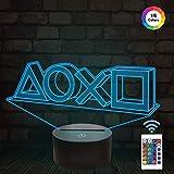 FULLOSUN Illusion-Nachtlicht 3D,LED-Tisch-Schreibtisch-Lampen, 16 Farben USB-Lade, die...
