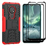 Dedux Rugged Case for Nokia 7.2 and 2 Pieces Screen