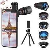 Selvim Kit d'Objectif Smartphone, Téléobjectif x22, Objectif Macro x25, Objectif Fisheye 235° ,...