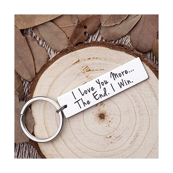 Birthday Gifts for Husband Wife Valentine I Love You I Win Keychain Gifts for Girlfriend Boyfriend Couple Wedding Gifts from Wifey Hubby Anniversary Gifts Key Chain for Him Her Presents