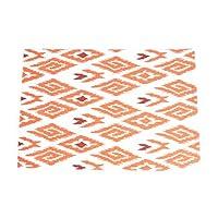 SARO LIFESTYLE Placemat, 13 inchx19 inch Oblong, Tangerine-Tangier Collection-Ikat [並行輸入品]