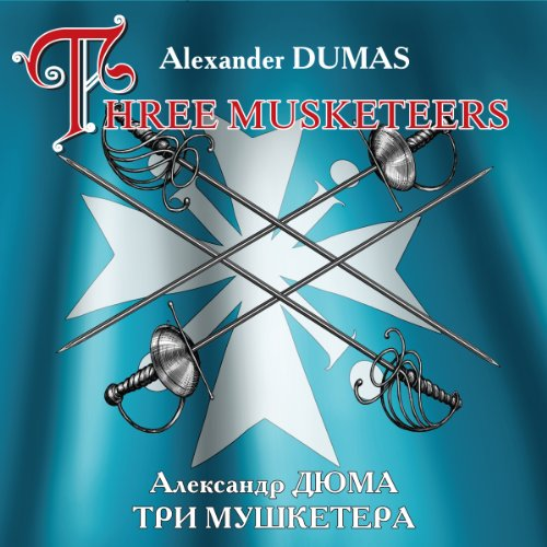 The Three Musketeers (bilingua) audiobook cover art