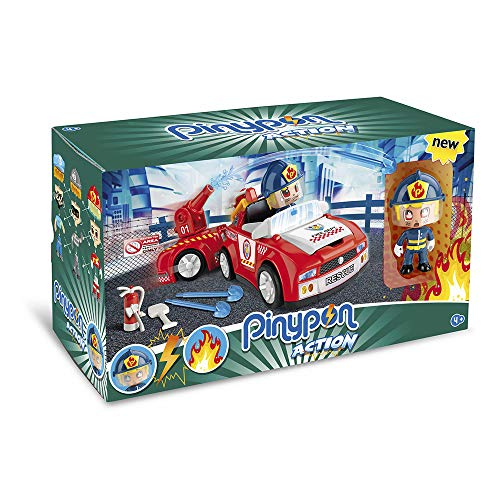 Pinypon Action- Bombero Vehículos de Acción, para niños y niñas a Partir de...