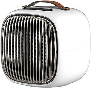 DIHAO Calefactor Eléctrico Cerámico 800W PTC, Mini Calefactor Ventilador, Calentacdor de Espacio Personal Automática 3 Modos Viento Cálido/Natural para Hogar y Oficina con Mango