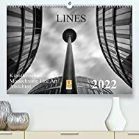 LINES - Kuenstlerische Monochrome Fine Art Ansichten (Premium, hochwertiger DIN A2 Wandkalender 2022, Kunstdruck in Hochglanz): Kuenstlerische Monochrome Fine Art Ansichten von Moderne Architektur (Monatskalender, 14 Seiten )
