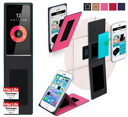 reboon Hülle für Obi Worldphone SF1 Tasche Cover Case Bumper | Pink | Testsieger