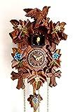 CLOCKVILLA HETTICH-UHREN Horloge coucou sculptée à quartz avec edelweiss peint