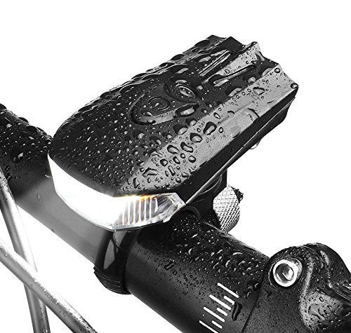 LED Luces Delantera De Bicicleta Potente Brillante Recargable USB 400Lúmenes Impermeable