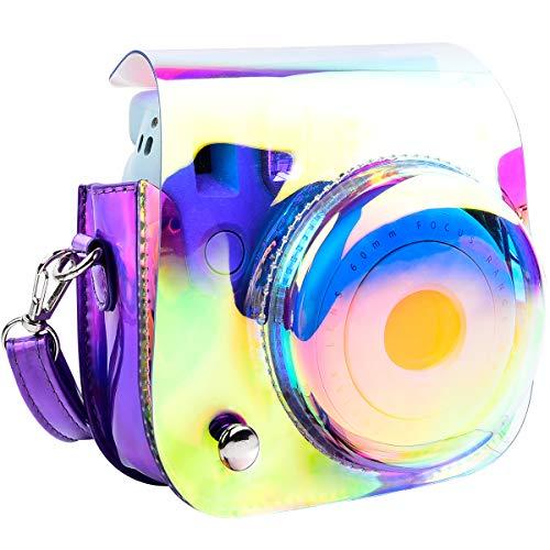 Kameratasche für Fujifilm Instax Mini 9 / Mini 8+/ Mini 8 Sofortbildkamera mit Schultergurt und Tasche für Fotozubehör (Shining Purple)