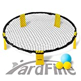 YardFine Spike Battle Ball Game Set Bounce Volleyball Game Kit Combo Beach Jump Ball Set for Lawn Backyard...