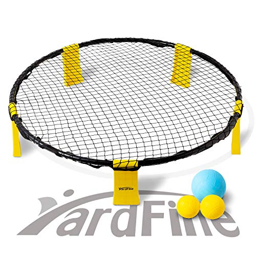 YardFine Spike Battle Ball Game Set Bounce Volleyball Game Kit Combo Beach...