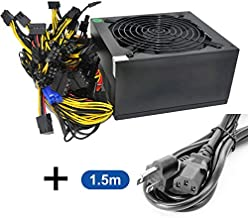 HVVH 20+4 Pin Silent Noise Reduction Miner ATX 1600W Power Supply 87 Plus Gold Designed for US Input Voltage110V 1600w Mining PSU with 1.5m US Plug Adapter Cable