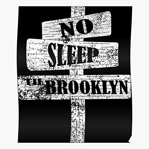 Music To Brooklyn Licensed Sleep No Til Band Ill Regalo para la decoración del hogar Wall Art Print Poster 11.7 x 16.5 inch