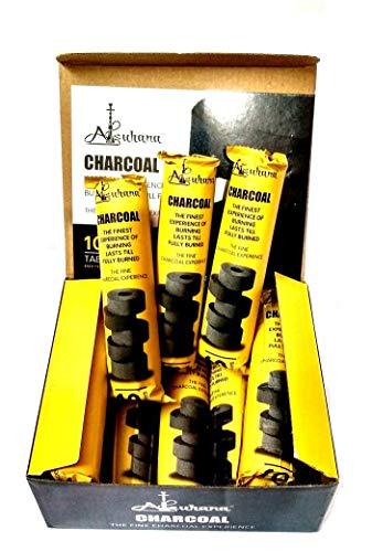 SOUTHPOLE FASHIONS Carbon Alsuhana Hookah Coil Charcoal Sheesha Magic Sulphur Free Coal - (Black) Pack of 20