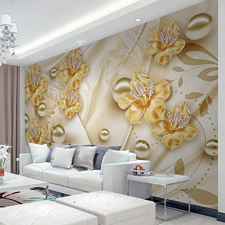 con 60% de descuento Mural de papel papel papel pintado para parojo, diseo de flores 3D con diamantes  autorización oficial