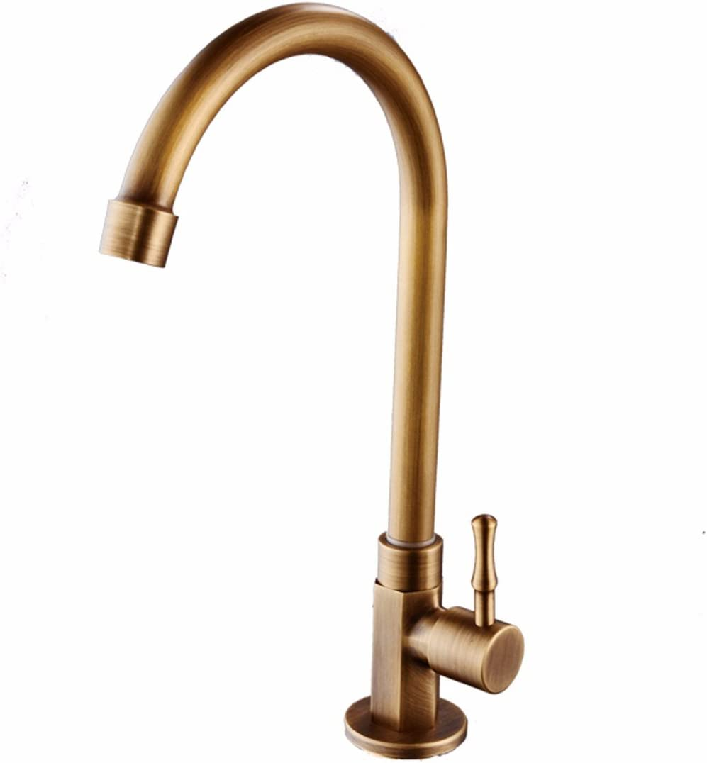 Kitchen Sink 67% OFF of fixed price Tap Waterfall Basin antique Full copper Taps shell Direct stock discount