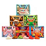 Marshmallow Peeps in Novelty Flavor Bundle - 6 Packs of 10 - Peeps Chicks in Fruit Punch, Party Cake, Sour Watermelon, Cotton Candy, Hot Tamale, and Root Beer Float Flavors