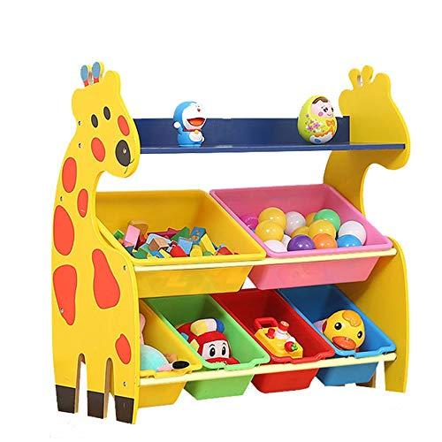 KCCCC Unidad de Almacenamiento de Juguetes Estante de Almacenamiento para niños con Cajas extraíbles Organizador de Juguete Dormitorio para niños (Color : Yellow, Size : One Size)