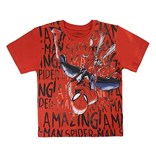 Spiderman S0713675 Camiseta, Rojo, 2 años Unisex niño