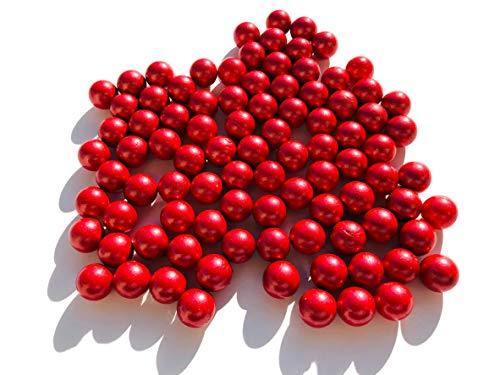 CRYSTAL KING Rot Matt rote Glasmurmeln Glaskugeln 16mm Durchmesser 500gr Dekokugeln Murmeln Murmel rot farbene Murmel Dekoglaskugel Dekoration Glaskügelchen