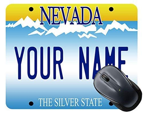(TM) Personalized Custom Name Nevada State License Plate Square Mouse Pad